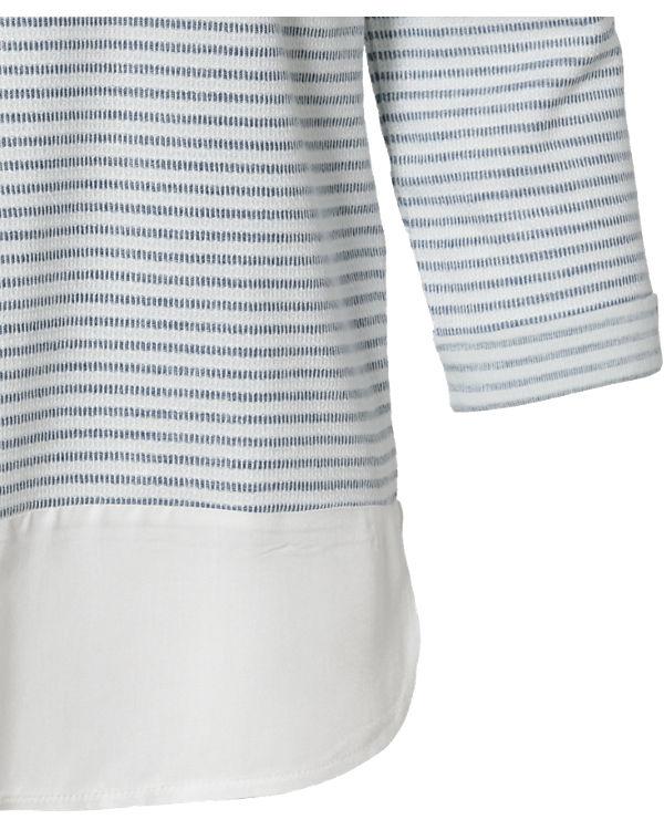 ESPRIT 3/4-Arm-Shirt blau/weiß