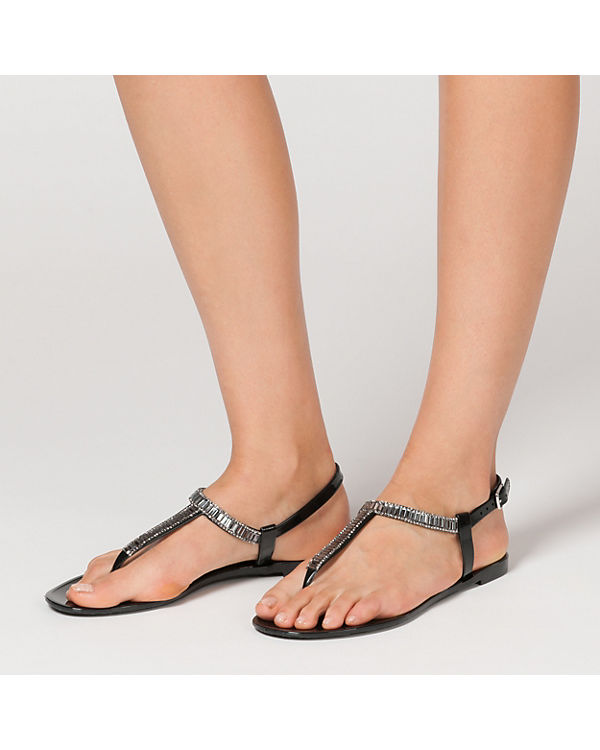 Steg Steg T schwarz BUFFALO Sandalen T schwarz schwarz Steg Sandalen T BUFFALO BUFFALO Sandalen I6BBASx