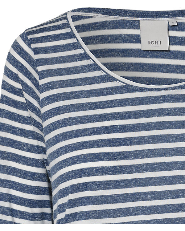 ICHI Langarmshirt blau
