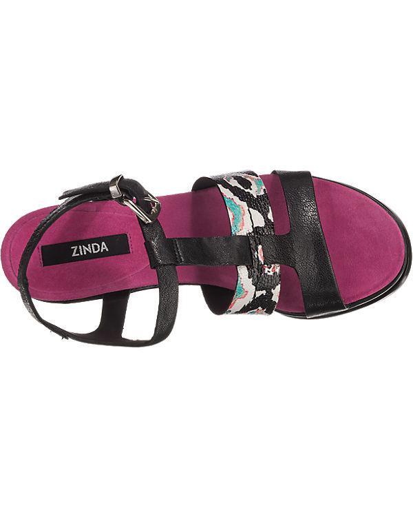 Zinda Zinda schwarz schwarz Zinda Sandaletten Zinda kombi Sandaletten IwWprIq6