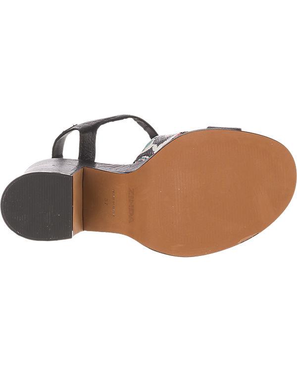 Zinda schwarz Zinda kombi Sandaletten Zinda Zinda R5PqwnS