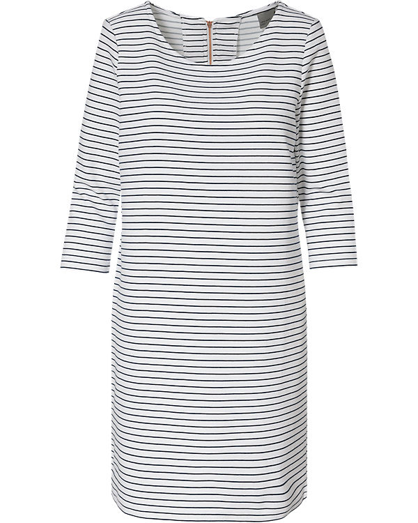 VERO MODA Jerseykleid schwarz/weiß