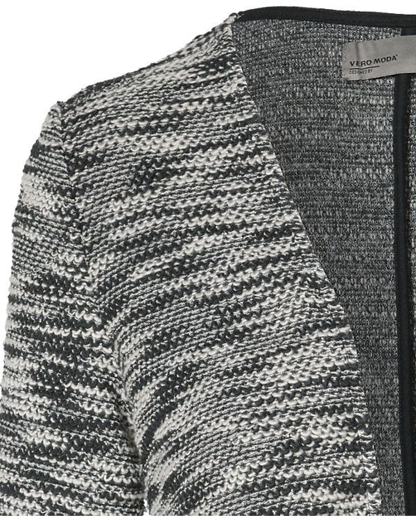 VERO MODA wei Strickjacke VERO schwarz MODA RaB1x7