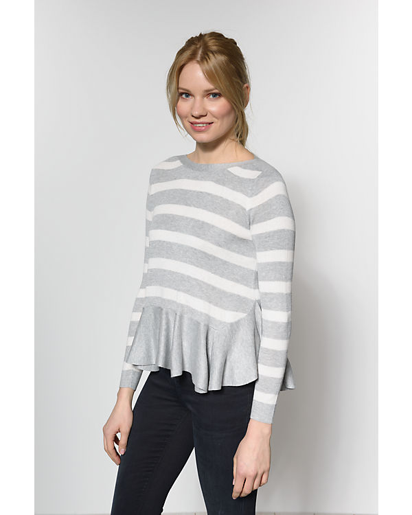 ONLY Pullover weiß/grau