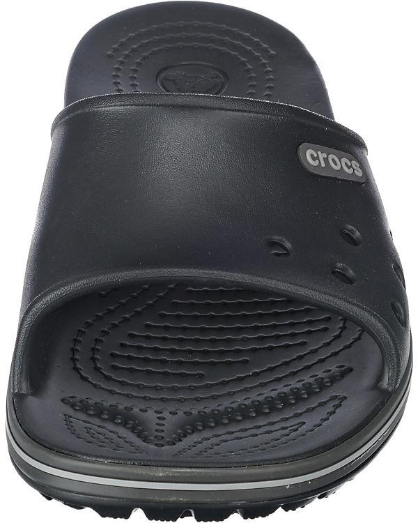 crocs, Crocband II Slide Badelatschen, Blk/Gpt Badelatschen, Slide grau a3fd60