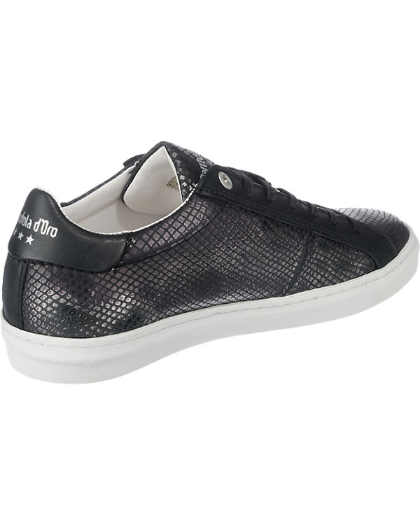 Donna d'Oro d'Oro schwarz Pantofola Paularo Pantofola Sneakers Low UdwIgwq