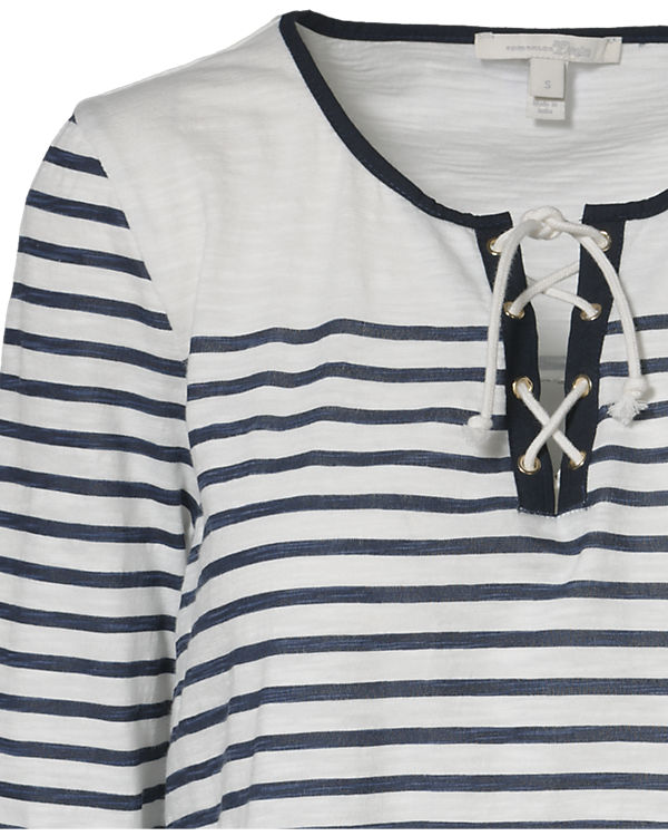 TOM TAILOR Denim 3/4-Arm-Shirt offwhite
