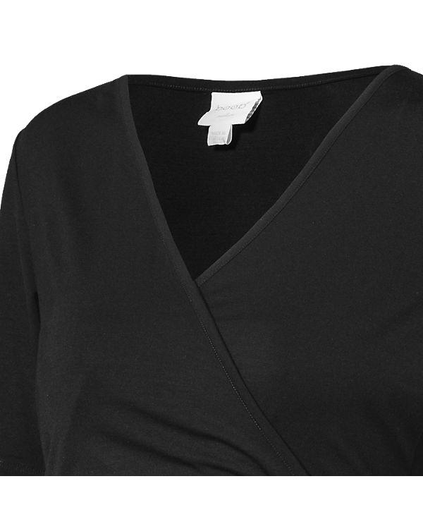 boob Stillshirt Wrap Top schwarz