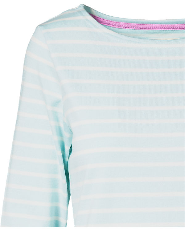Tom Joule 3/4-Arm-Shirt türkis/weiß