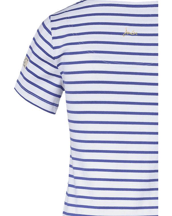 Tom Joule Jerseykleid blau/weiß