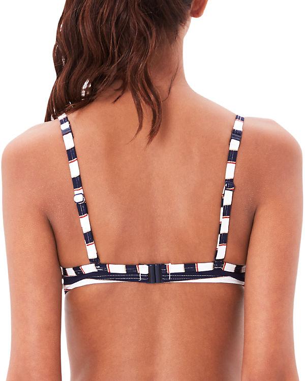 s.Oliver Schalen Bikini Oberteil blau/weiß