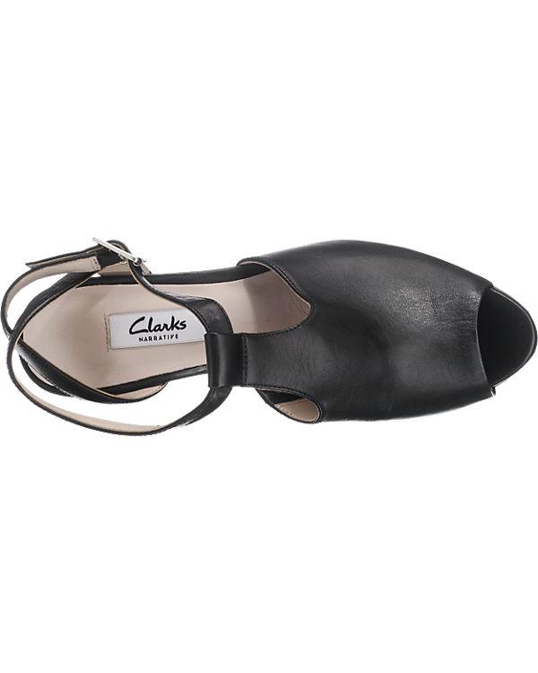 Charm Clarks Clarks Kendra Clarks Sandaletten schwarz Clarks v1qIq0Zgw