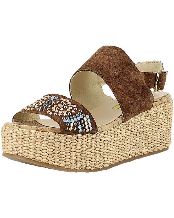 MANAS MANAS Sandaletten braun-kombi