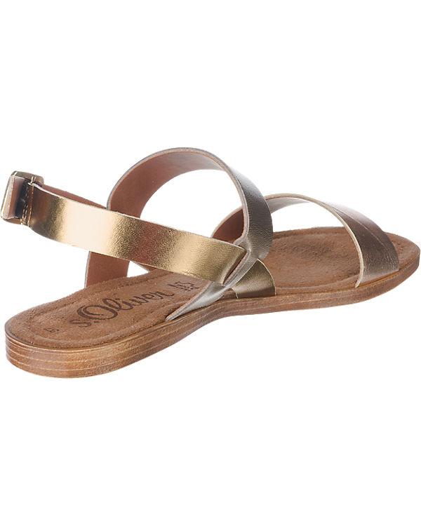 Sandaletten s Oliver Oliver s gold xnPfAnZ