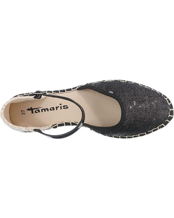 Tamaris Tamaris Rennes Slipper schwarz-kombi