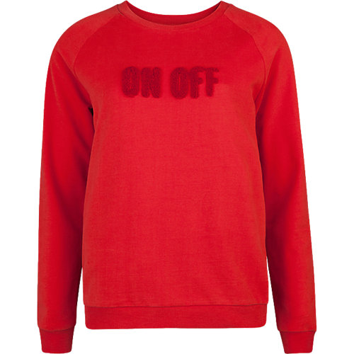 WE Fashion Sweatshirt rot Damen Gr. 34