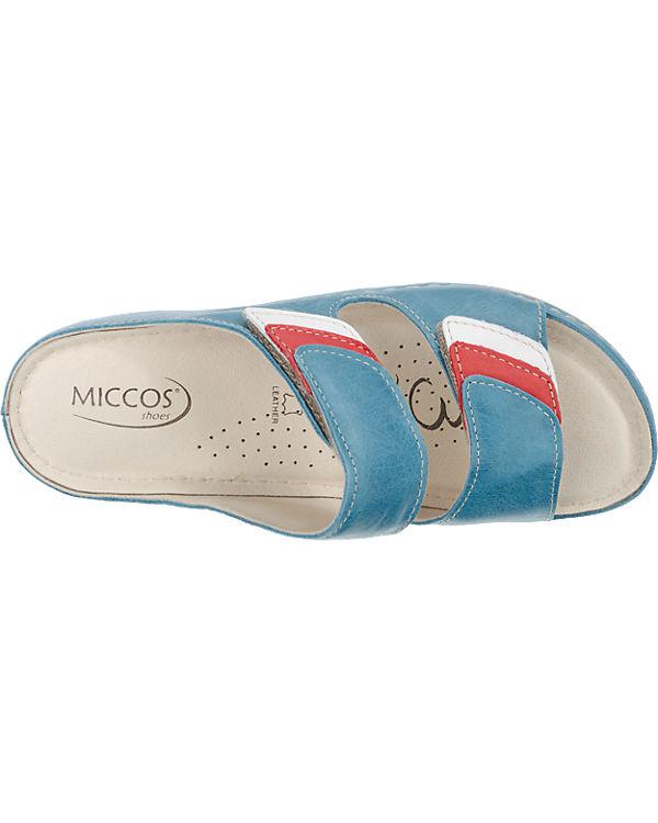 Miccos Miccos Pantoletten blau-kombi