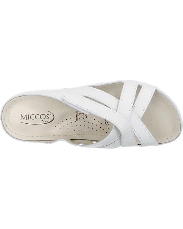 Miccos Miccos Pantoletten weiß
