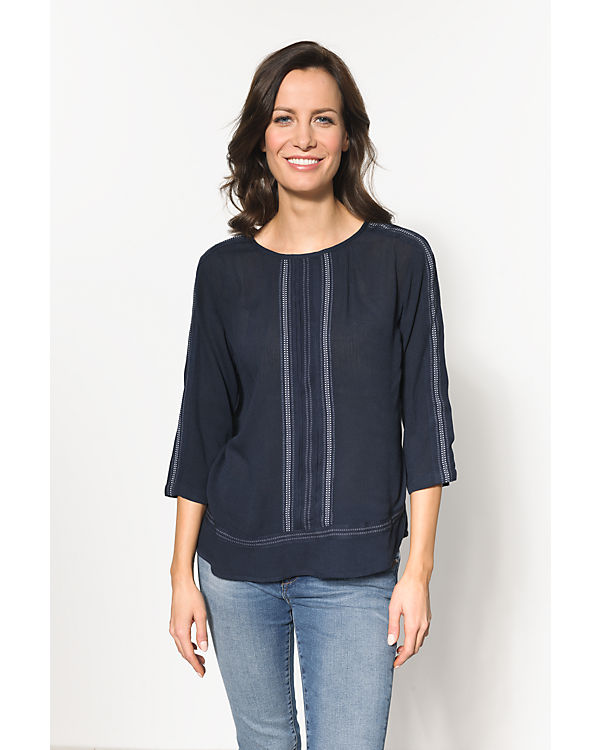 VILA 3/4-Arm-Shirt blau