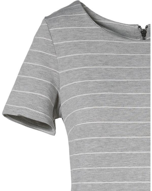 VILA Kleid weiß/grau