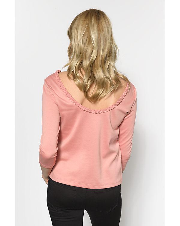 VILA 3/4-Arm-Shirt rosa