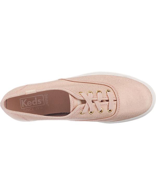 Keds Keds Triple Metallic Canvas Sneakers rosa