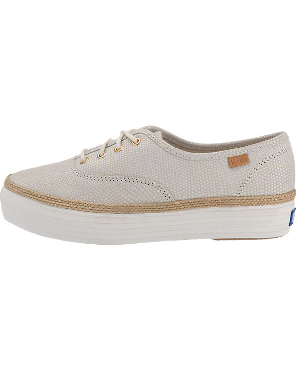 Dalmata Keds Sneakers Triple Keds Lea beige Dot T78nE