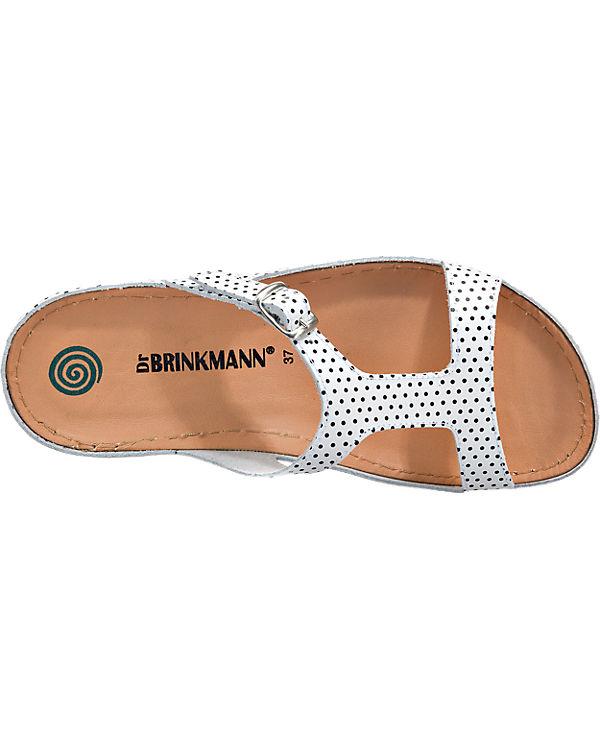Dr. Brinkmann Dr. Brinkmann Pantoletten weiß