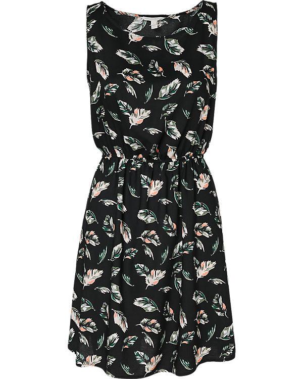 TOM TAILOR Denim Kleid schwarz/grün