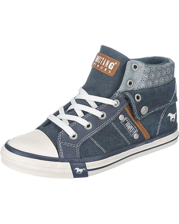MUSTANG Sneakers High dunkelblau