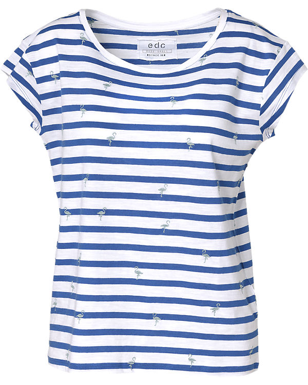 edc by ESPRIT T-Shirt blau