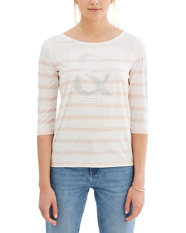 ESPRIT 3/4-Arm-Shirt rosa-kombi
