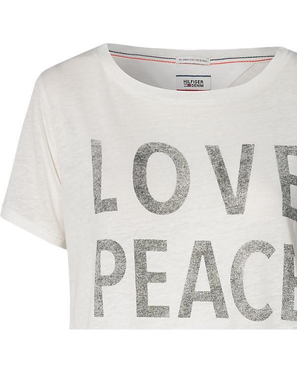 HILFIGER DENIM T-Shirt weiß