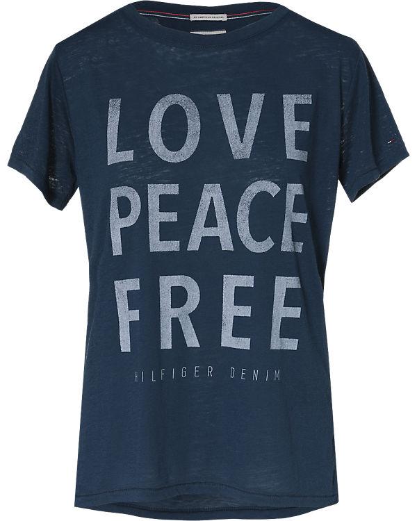 HILFIGER DENIM DENIM blau HILFIGER T T Shirt U5OWwqOP
