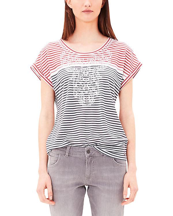 s.Oliver T-Shirt blau/rot