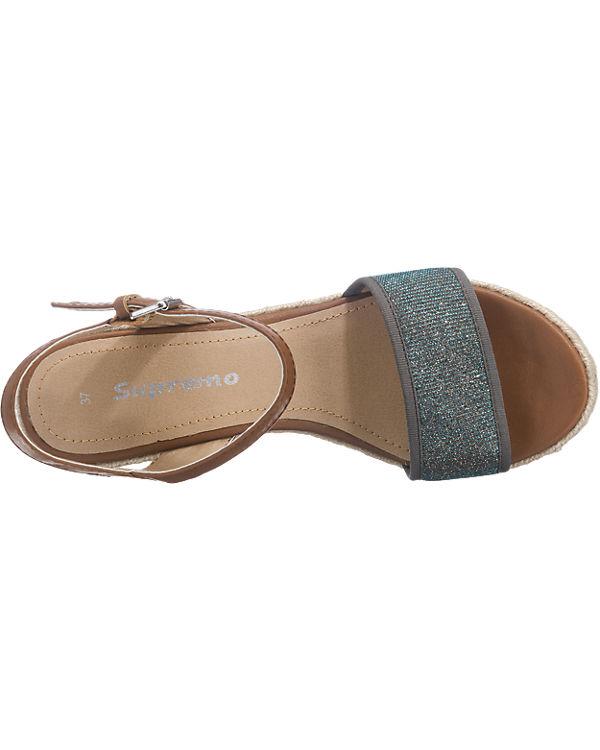 Supremo Supremo Sandaletten braun-kombi