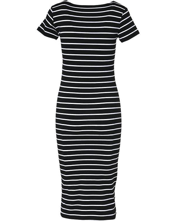 pieces Kleid schwarz/weiß