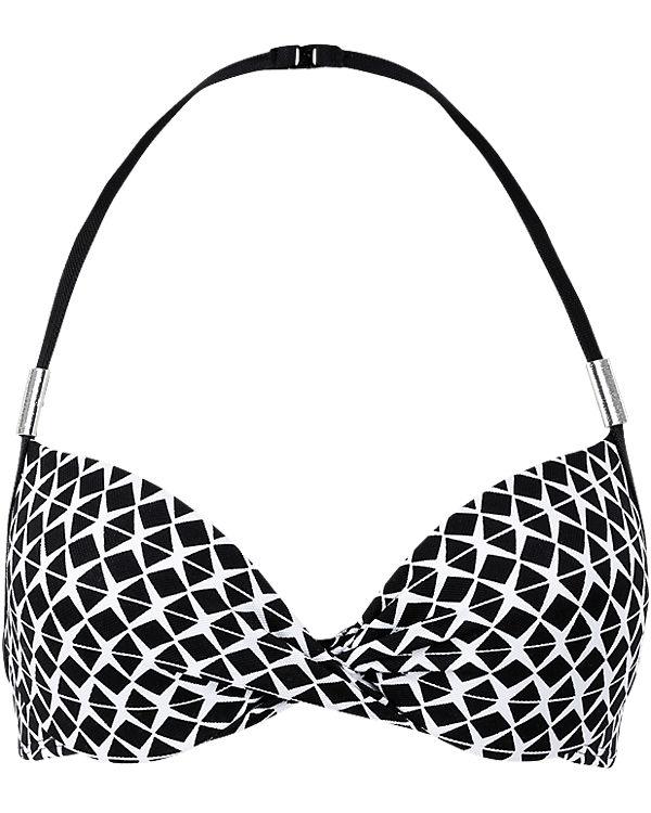 s.Oliver Schalen Bikini Oberteil schwarz/weiß