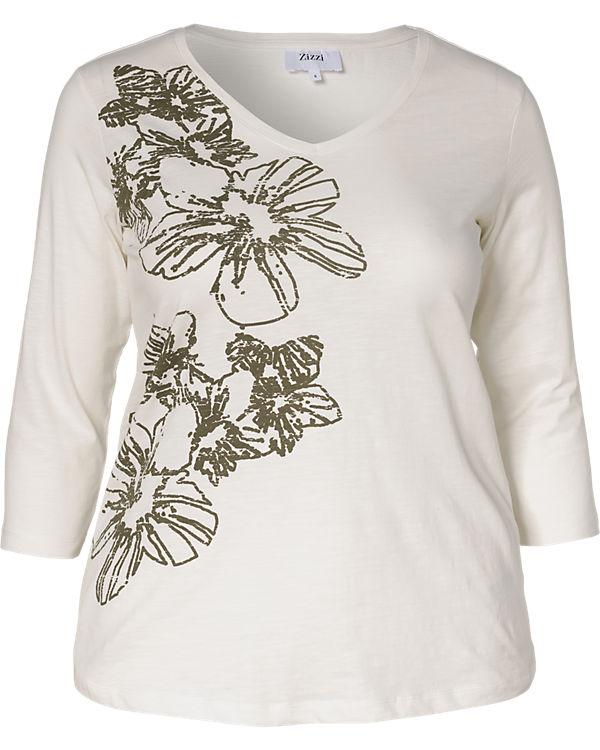 Zizzi 3/4-Arm-Shirt creme