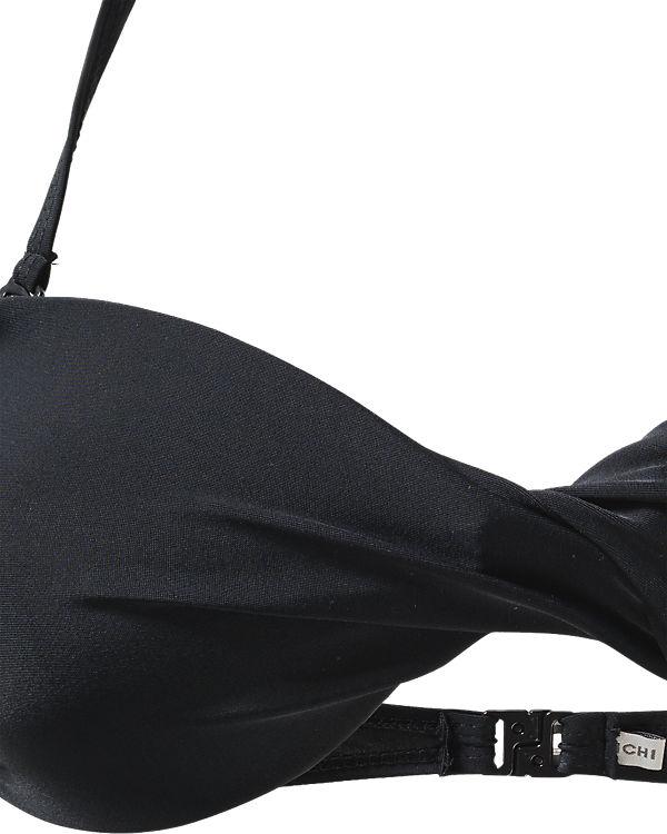 ICHI Bandeau Bikini Oberteil schwarz
