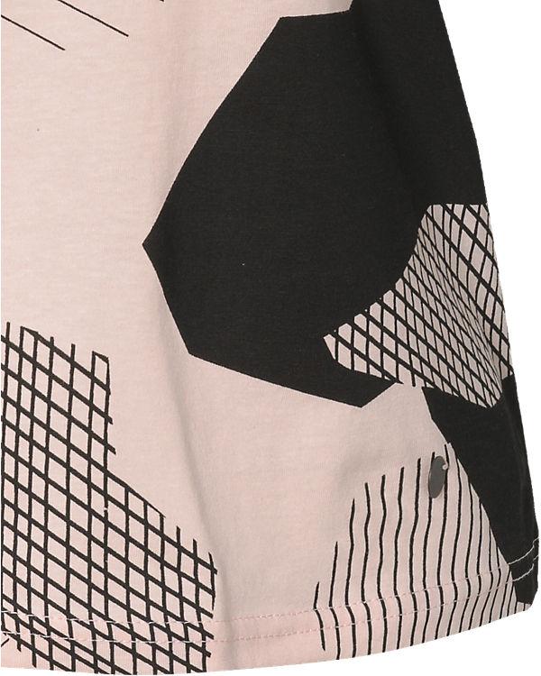 nümph T-Shirt schwarz/rosa