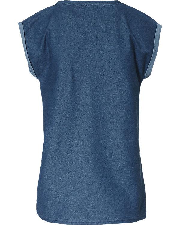 nümph T-Shirt blau