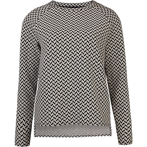 WE Fashion Pullover blau/weiß Damen Gr. 36