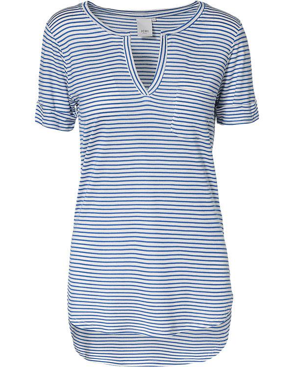 ICHI T-Shirt blau