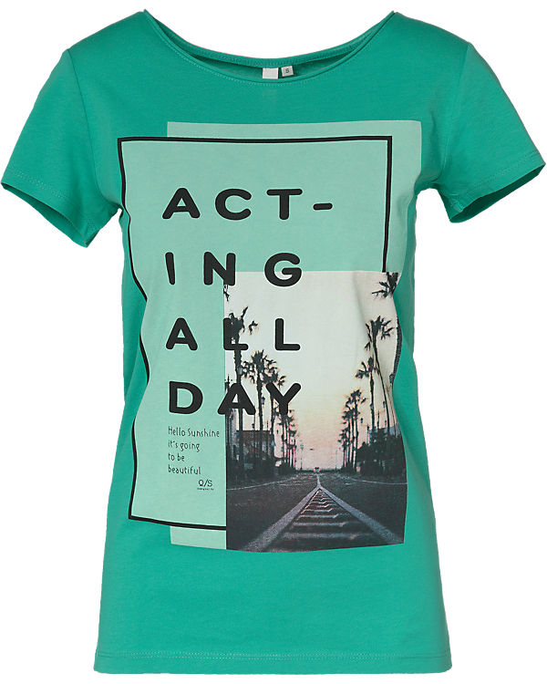 Q/S T-Shirt grün