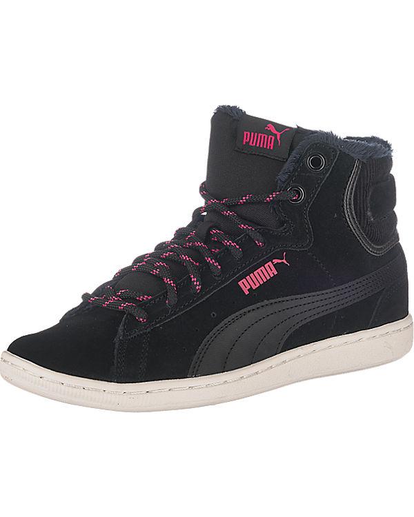 schwarz Mid PUMA PUMA Vikky Corduroy Sneakers q68WSwAx