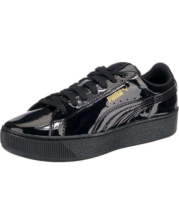 PUMA, PUMA schwarz Vikky Platform Patent Sneakers, schwarz PUMA 167ea5
