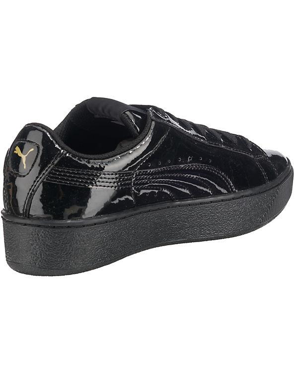 PUMA, PUMA Vikky Platform Patent schwarz Sneakers, schwarz Patent 0a0c43