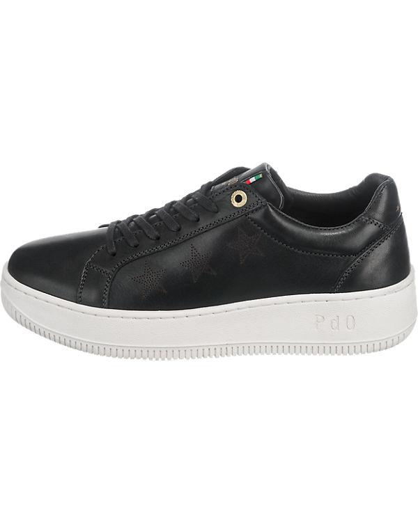 Pantofola d'Oro, Donne Pantofola d'Oro Brasilia Donne d'Oro, Low Sneakers, schwarz 171ddd