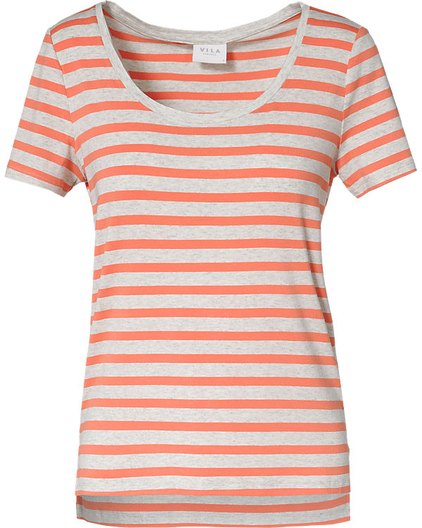 VILA T-Shirt grau/orange